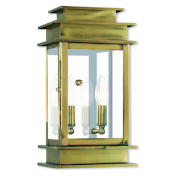 Princeton Antique Brass Wall Lantern