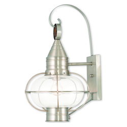 Newburyport Brushed Nickel Wall Lantern