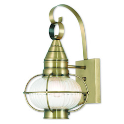 Newburyport Antique Brass Wall Lantern