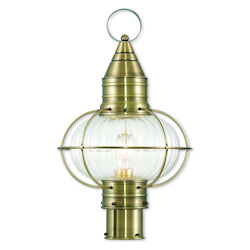 Newburyport Antique Brass Post Lantern
