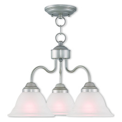Wynnewood Hand Applied Brushed Silver Convertible Dinette Chandelier/Ceiling Mou