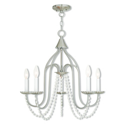Alessia Brushed Nickel Chandelier