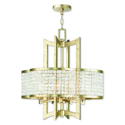 Grammercy Hand Applied Winter Gold Chandelier