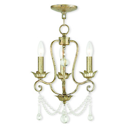 Sophia Hand Applied Winter Gold Mini Chandelier
