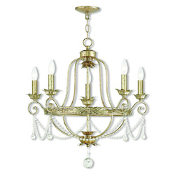Sophia Hand Applied Winter Gold Chandelier