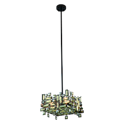 Picasso Collection Pendant Lamp L:14In. W:14In. H:9In. Lt:4 Dark Bronze Fi