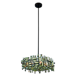 Picasso Collection Pendant Lamp L:18In. W:18In. H:9In. Lt:4 Dark Bronze Fi