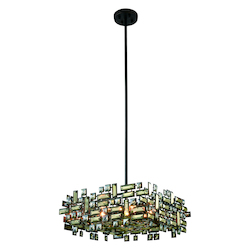 Picasso Collection Pendant Lamp L:21In. W:21In. H:9In. Lt:6 Dark Bronze Fi
