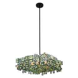 Picasso Collection Pendant Lamp L:24In. W:24In. H:9In. Lt:6 Dark Bronze Fi