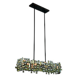 Picasso Collection Pendant Lamp L:35In. W:11In. H:9In. Lt:6 Dark Bronze Fi