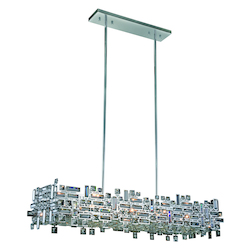 Picasso Collection Pendant Lamp L:44In. W:14In. H:9In. Lt:8 Chrome Finish