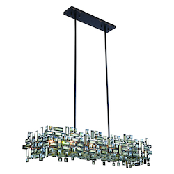 Picasso Collection Pendant Lamp L:44In. W:14In. H:9In. Lt:8 Dark Bronze Fi