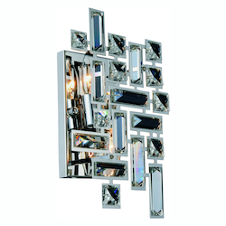 Picasso Collection Wall Sconce W:8In. H:12In. E:3.5In. Lt:2 Chrome Finish