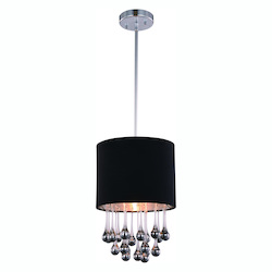 Metro Collection Pendant Lamp D:10In. H:14.6In. Lt:1 Chrome Finish Royal Cut