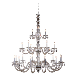 Augusta Collection Pendant Lamp D:52In. H:60.5In. Lt:21 Chrome Finish