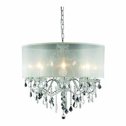 2015 St. Francis Collection Hanging Fixture Silver Shade H23In D26In Lt:8 Chrome