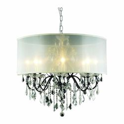 2015 St. Francis Collection Hanging Fixture Silver Shade H23In D26In Lt:8 Dark B