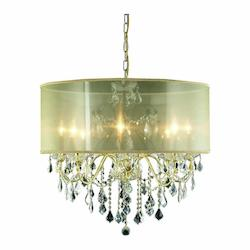 2015 St. Francis Collection Hanging Fixture Gold Shade H23In D26In Lt:8 Gold Fin