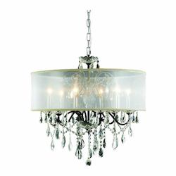 2016 St. Francis Collection Hanging Fixture Silver Shade H21In D24In Lt:6 Dark B