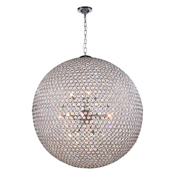 2102 Cabaret Collection Pendant Lamp D:36In H:36In Lt:18 Chrome Finish Royal Cut