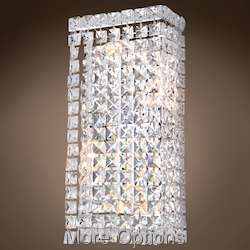 4 Light Chrome Wall Sconce With Crystals