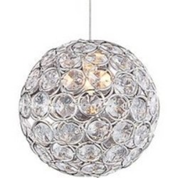 Polished Chrome 1 Light 5in. Wide Pendant from the Brilliant Collection