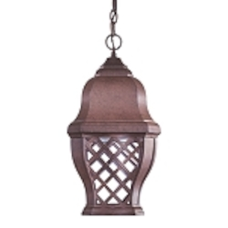 "Arbor Hill Dark Sky Collection 1-Light 20"" Antique Bronze Energy Efficient Outdoor Hanging Lantern 8014-91-PL"