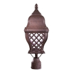 "Arbor Hill Dark Sky Collection 1-Light 21"" Antique Bronze Energy Efficient Outdoor Post Mount Lantern 8016-91-PL"