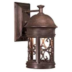 "Sage Ridge Dark Sky Collection 1-Light 12"" Vintage Rust Outdoor Wall Lantern 8281-A61"