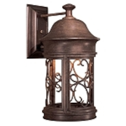 "Sage Ridge Dark Sky Collection 1-Light 16"" Vintage Rust Outdoor Wall Lantern 8282-A61"