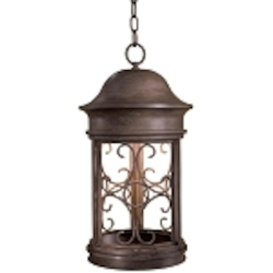 "Sage Ridge Dark Sky Collection 1-Light 20"" Vintage Rust Outdoor Hanging Lantern 8284-A61"