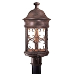 "Sage Ridge Dark Sky Collection 1-Light 19"" Vintage Rust Outdoor Pier Mount Lantern 8286-A61"