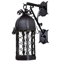 "Montalbo Dark Sky Collection 1-Light 31"" Vintage Black Energy Efficient Outdoor Wall Lantern 9243-1-66-PL"