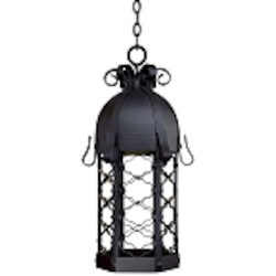 "Montalbo Dark Sky Collection 1-Light 27"" Vintage Black Energy Efficient Outdoor Hanging Lantern 9244-1-66-PL"