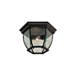 "Black 3-Light 10"" Outdoor Ceiling Fixture 71174-66"