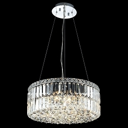 "Ibiza Design 12-Light Round 20"" Hanging Pendant Chandelier with European or Swarovski Crystals SKU# 10298"