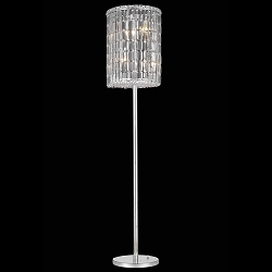 Ibiza Design 4 Light 65'' Chrome Floor Lamp Dressed with European or Swarovski Crystals SKU# 25486