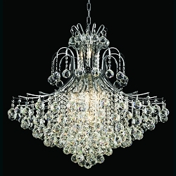15 Light Contour Gold or Chrome Chandelier with a Choice of European or Swarovski Crystals SKU# 10531