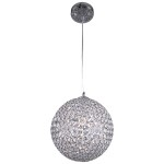 4 Light Sphere Pendant Light in Chrome Finish with Clear Crystal - Joshua Marshal 700072-001