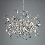 30 Light Ribbon Pendant Chandelier Light Fixture with Chrome Finish - Joshua Marshal 700073-001
