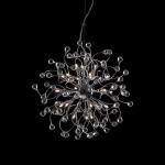 24 Light Crystal Hanging Pendant Light with Chrome Finish - Joshua Marshal 700081-001