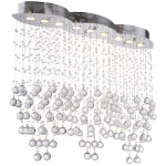 9 Light Pendant Chandelier Light in Chrome Finish with European Crystals  - Joshua Marshal 700096-001