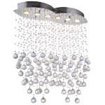 6 Light Pendant Chandelier Light in Chrome Finish with European Crystals - Joshua Marshal 700097-001