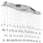 8 Light Pendant Chandelier Light in Chrome Finish with European Crystals - Joshua Marshal 700098-001