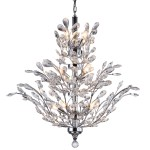 18 Light Crystal Chandelier Light in Chrome Finish with European Crystals - Joshua Marshal 700107-001