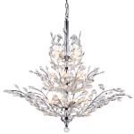 13 Light Crystal Chandelier Light in Chrome Finish with European Crystals - Joshua Marshal 700109-001