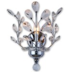 1 Light Crystal Wall Sconce Light in Chrome Finish with Clear Crystals  - Joshua Marshal 700112-001
