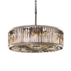 Welles 10 Light Clear Crystal Round Chandelier Light Fixture in Polished Nickel Finish - Restoration Revolution 700143-004