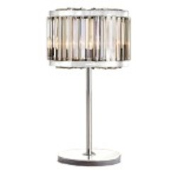 Welles 4 Light Clear Crystal Table Lamp Light Fixture in Polished Nickel Finish - Restoration Revolution 700146-004