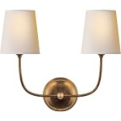 8 Light Shaded Chandelier Light Fixture with Antique Bronze Finish